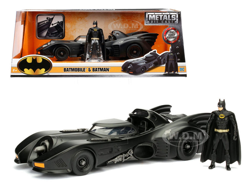 1989 Batmobile with Diecast Batman Figure 1/24 Diecast Model Car Jada 98260