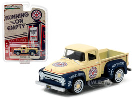 1956 Ford F-100 Red Crown Gasoline Pickup Truck 1/64 Diecast Model Car Greenlight 41010