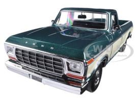 1979 Ford F-150 Pickup Truck 2 Tone Green/Cream 1/24 Diecast Model Car Motormax 79346