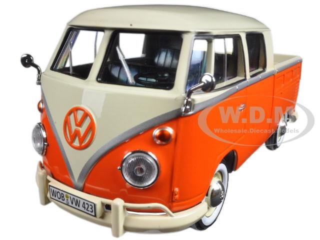 d1dad3f6365c2c Volkswagen Type 2 (T1) Double Cab Pickup Truck Orange Cream 1 ...