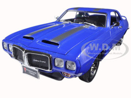 1969 Pontiac Firebird Trans Am Blue 1/18 Diecast Model Car Road Signature 92368