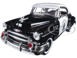 1950 Chevrolet Bel Air California Highway Patrol (CHP) 1/18 Diecast Model Car Motormax 79007