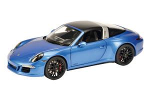 Porsche 911 Targa 4 GTS Sapphire Blue Metallic 1/18 Diecast Model Car Schuco 450039400