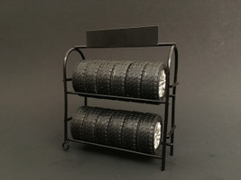 Metal Tire Rack For 1:18 Diecast Model American Diorama 77518