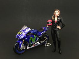 Female Biker Figure For 1:18 Scale Models American Diorama 77438
