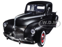 1940 Ford Pickup Matt Black 1/18 Diecast Model Car Motormax 73170