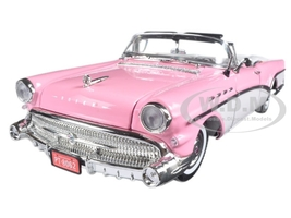 1957 Buick Roadmaster Pink 1/18 Diecast Model Car Motormax 73152