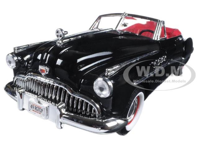 1949 Buick Roadmaster Black 1/18 Diecast Model Car Motormax 73116