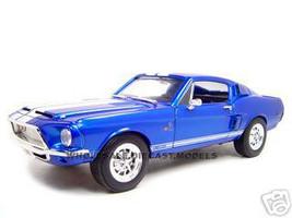 1968 Shelby Mustang GT 500KR Blue 1/18 Diecast Model Car Road Signature 92168
