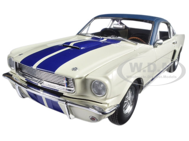 1966 Ford Shelby Mustang G.T. 350 White with Vinyl Top 1 of 1 Pre Production Prototype Limited Edition to 564pcs 1/18 Diecast Model Car Acme A1801818
