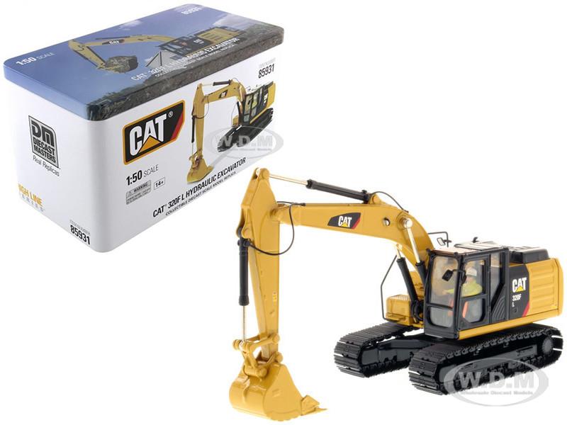 CAT Caterpillar 320F L Hydraulic Excavator with Operator High Line Series 1/50 Diecast Model Diecast Masters 85931