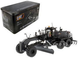 CAT Caterpillar 18M3 Motor Grader Special Edition in Black Onyx with Operator High Line Series 1/50 Diecast Model Diecast Masters 85522