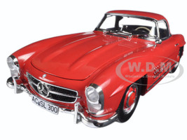 1957 Mercedes 300 SL W198 Red  1/18 Diecast Model Car by Minichamps 180039041