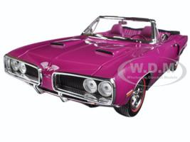 1970 Dodge Coronet R/T Purple 1/18 Diecast Model Car Road Signature 92548