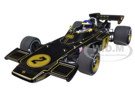 Lotus 72E 1973 Ronnie Peterson #2 with Driver Figurine in Cockpit 1/18 Model Car Autoart 87330