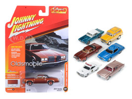 Classic Gold 2017 Set of 6 cars Release C 1/64 Diecast Model Cars Johnny Lightning JLCG003