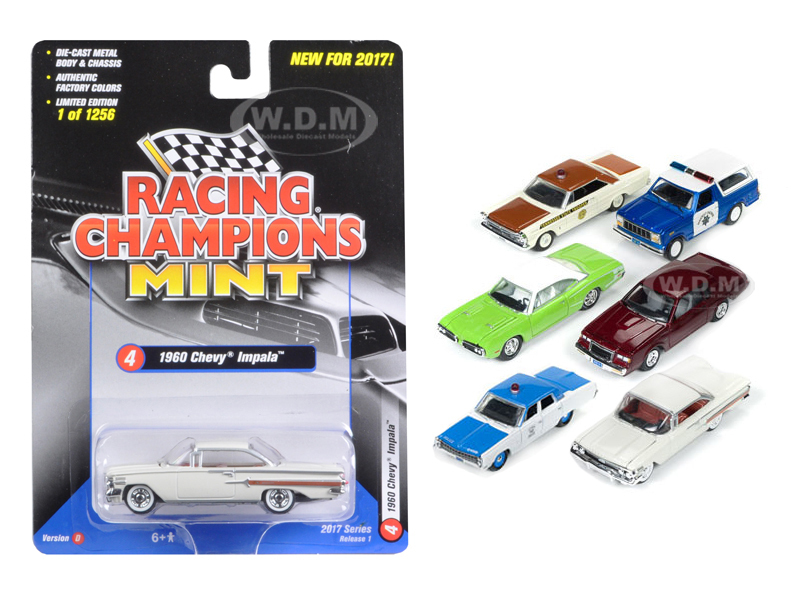 Mint Release 2017 Set D Set of 6 cars 1/64 Diecast Model Cars Racing Champions RC003