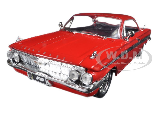 """Dom's Chevrolet Impala Red Fast & Furious F8 """"The Fate of the Furious"""" Movie 1/24 Diecast Model Car Jada 98426"""