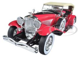 1934 Duesenberg II SJ Red and Black 1/18 Diecast Model Car Greenlight 12995