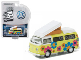 1968 Volkswagen Type 2 T2 Westfalia Campmobile Hippie Dippy Weather Van 1/64 Diecast Model Greenlight 29860 D