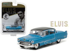 "1955 Cadillac Fleetwood Series 60 Special Elvis Presley ""Blue Cadillac"" (1935-1977) 1/64 Diecast Model Car Greenlight 44760 A"