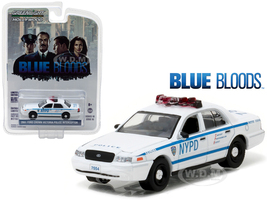 "2001 Ford Crown Victoria Police Interceptor New York City Department (NYPD) ""Blue Bloods"" TV Series (2010-Current) 1/64 Diecast Model Car Greenlight 44760 D"