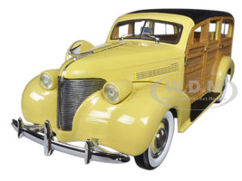 1939 Chevrolet Woody Station Wagon Italian Cream 1/18 Diecast Model Car Sunstar 6170