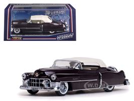 1953 Cadillac Closed Convertible Maroon 1/43 Diecast Model Car Vitesse 36266