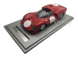 Ferrari 365 P2 Test Press Red with White Circle Version 1966 Limited Edition to 60pcs 1/18 Model Car Tecnomodel TM18-20 H
