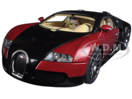 Bugatti EB Veyron 16.4 1st Production Car Black and Red Limited  1/18 Diecast Model Car Autoart 70909