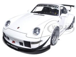 Porsche RWB 993 White with Gun Gray Wheels 1/18 Model Car Autoart 78150
