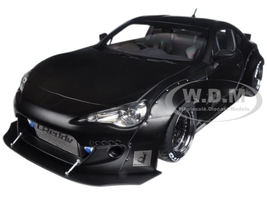 Rocket Bunny Toyota 86 Matt Black with Black Wheels 1/18 Model Car Autoart 78755