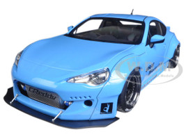 Rocket Bunny Toyota 86 Metallic Sky Blue with Black Wheels 1/18 Model Car Autoart 78758