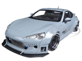 Rocket Bunny Toyota 86 Concrete Grey with Black Wheels 1/18 Model Car Autoart 78759