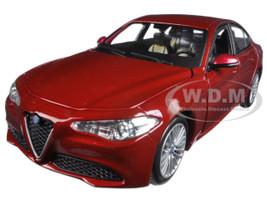 2016 Alfa Romeo Giulia Burgundy 1/24 Diecast Model Car Bburago 21080
