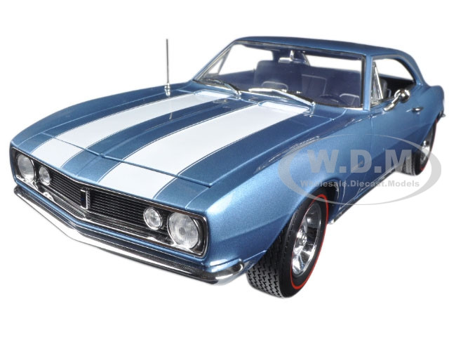 1967 Chevrolet Camaro Z/28 50th Anniversary Nantucket Blue Limited Edition to 1002pcs 1/18 Diecast Model Car Autoworld AMM1101