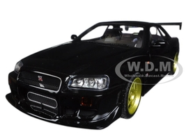 1999 Nissan Skyline GT-R (R34) Black 1/18 Diecast Model Car Greenlight 19030