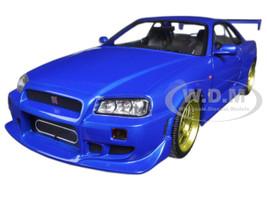 1999 Nissan Skyline GT-R (R34) Bayside Blue 1/18 Diecast Model Car Greenlight 19032