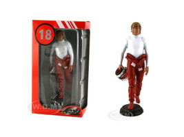 Didier Pironi in Racing Suit Standing Holding Helmet Figurine for 1/18 Lemans Miniatures FLM180018