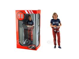 1977 Monaco GP James Hunt Standing Signing Autographs Figurine for 1/18 Lemans Miniatures FLM180224
