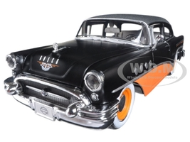 1955 Buick Century Harley Davidson Black / Orange 1/26 Diecast Model Car Maisto 32197