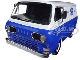 1960's Ford Econoline Van Blue with Boxes Ford Tractor Parts & Service 1/25 Diecast Model Car First Gear 40-0394
