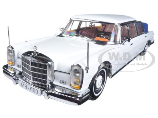 1966 Mercedes 600 Landaulet Limousine White 1/18 Diecast Model Car Sunstar 2301