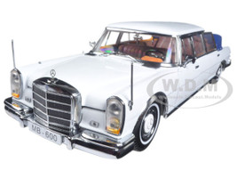 1966 Mercedes 600 Landaulet Limousine White 1/18 Diecast Model Car Sunstar 2301