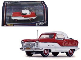 1959 Nash Metropolitan Coupe White/ Mardi Gras Red 1/43 Diecast Model Car Vitesse 36254