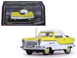1959 Nash Metropolitan Coupe White/ Sunburst Yellow 1/43 Diecast Model Car Vitesse 36255