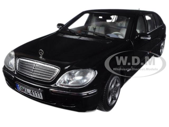 2000 Mercedes S 600 Pullman Limousine Black 1/18 Diecast Model Car Sunstar 4111