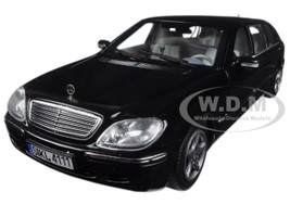 2000 Mercedes S 600 Pullman Limousine Black 1/18 Diecast Model Car Sunstar 4111