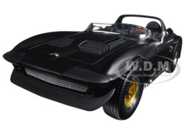 1964 Chevrolet Corvette Grand Sport Roadster Matt Black 1/18 Diecast Model Car Road Signature 92697