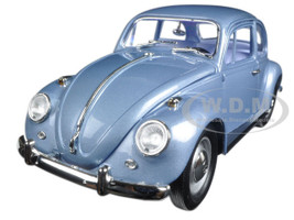 1967 Volkswagen Beetle Light Blue 1/18 Diecast Model Car Road Signature 92078